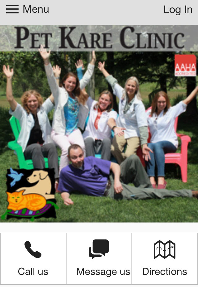 Install the Pet Kare Clinic Smartphone App 1